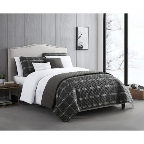 Riverbrook Home Durham 100 Percent Cotton 8 Piece Comforter & Coverlet Set