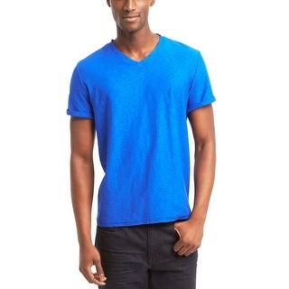 Kenneth Cole Reaction Casual V-Neck T-Shirt Admiral Blue Large L