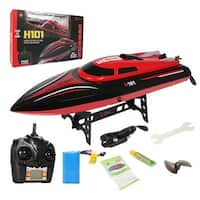 Costway H101 2.4G RC High Speed Racing Boat 180 degree Flip Radio Controlled Electric Toy Gift - Red