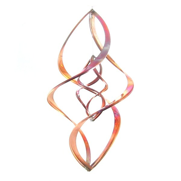 Sunnydaze Double Infinity Copper Wind Spinner, Multiple Sizes