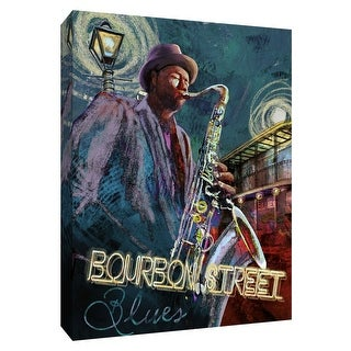"PTM Images 9-148460  PTM Canvas Collection 10"" x 8"" - ""Bourbon Street Blues"" Giclee Music Art Print on Canvas"