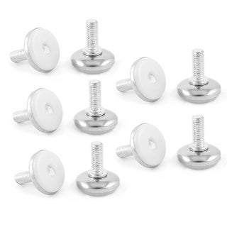 Furniture Screw On Threaded M8 x 20mm Metal Rod Leveling Support Foot 10Pcs