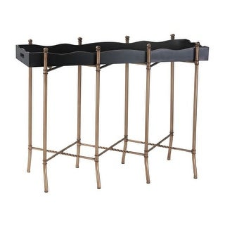 Sterling Industries 51-016 Black & Gold Tray Style Console