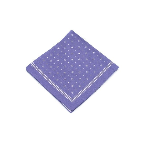 Brunello Cucinelli Men's Purple & White Patterned Pocket Square
