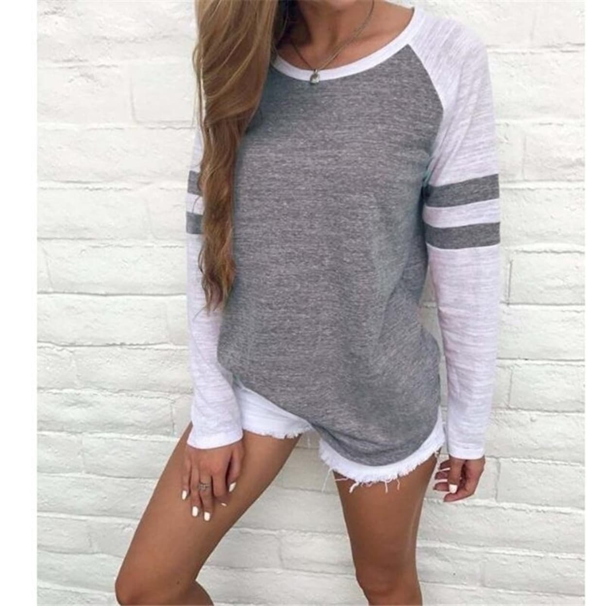 Details about  /Womens Casual Long Sleeve Blouse Pullover Ladies Loose Jumper Tops Plus Size 5XL