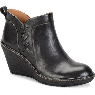 Sofft Womens Carminda Leather Closed Toe Ankle Platform Boots