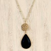 Mad Style Black Chiara Stone and Icon Necklace