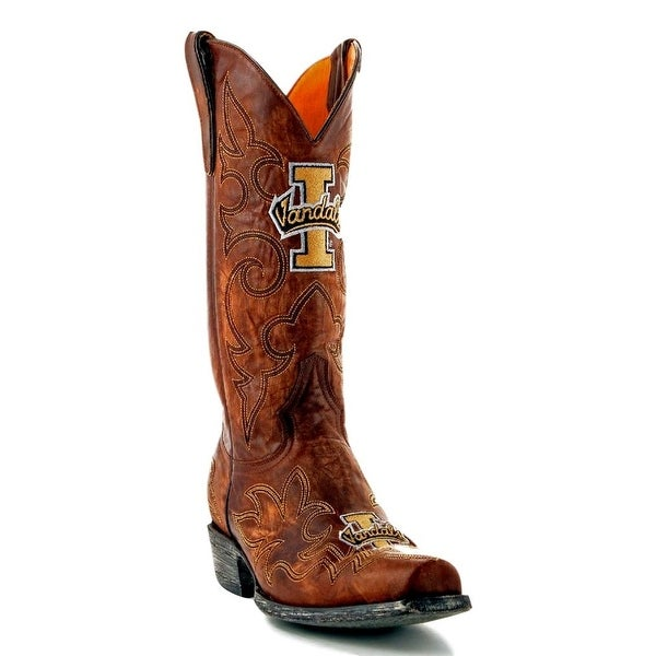 Gameday Boots Mens Leather College Team Idaho Vandals Brass