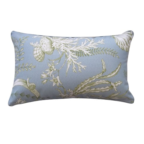 Jiti Sea Blue Tropical Summer Outdoor Robin Outdoor Pillow - 12 x 20