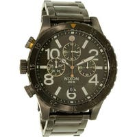Nixon Men's 48-20  Gunmetal Stainless-Steel Quartz Dress Watch