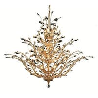 """Worldwide Lighting W8315241 Aspen 18-Light 41"""" Wide Chandelier with Crystal Accents - polished gold/clear crystal"""