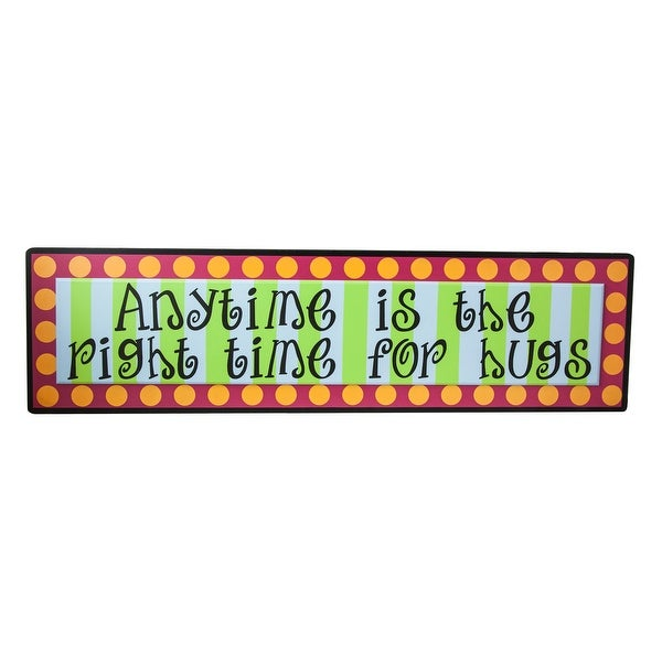 Tumbleweed Pottery Anytime Is The Right Time For Hugs 32 Inch Wood Plaque