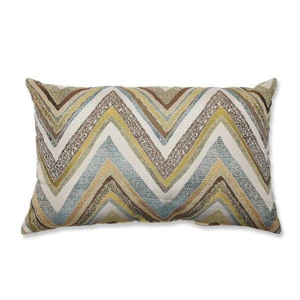 "18.5"" Strisce Chevron Multicolored Striped Decorative Rectangular Throw Pillow"