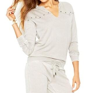 Guess Womens Sweatshirt Fleece Split Neck