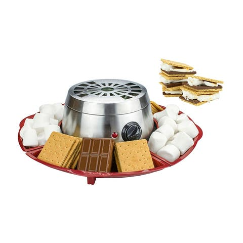 Brentwood TS-603 Indoor Electric Stainless Steel S'mores Maker