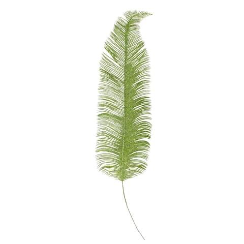 "24"" Artificial Metallic Green Palm Frond Floral Spray"