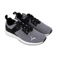 Puma Mega Nrgy Street Mens Gray Textile Athletic Lace Up Training Shoes