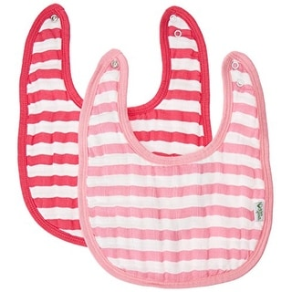 green sprouts Muslin Bibs Made From Organic Cotton,Pink Stripe Set