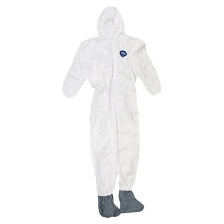 Trimaco 141242 Coverall with hood and boot, Tyvek, White