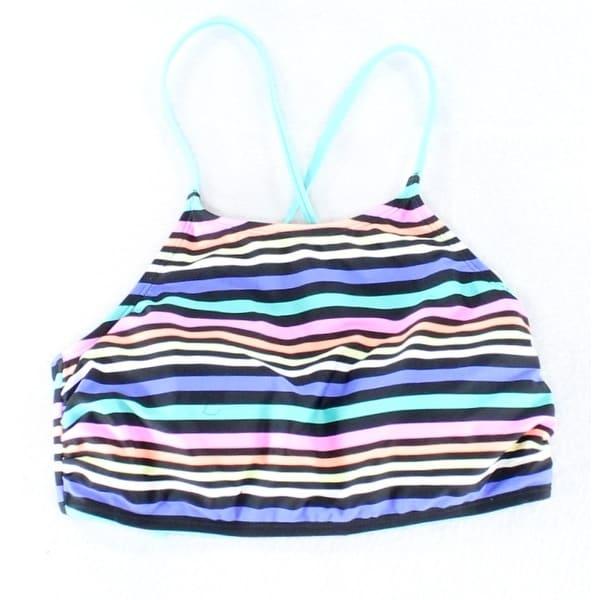 578c61b2dd4b2 Shop Hot Water NEW Black Size Medium M Junior Striped Bikini Top Swimwear -  Free Shipping On Orders Over $45 - Overstock - 20499299