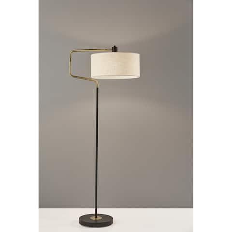 Carson Carrington Yngered Black & Anitque Brass Floor Lamp