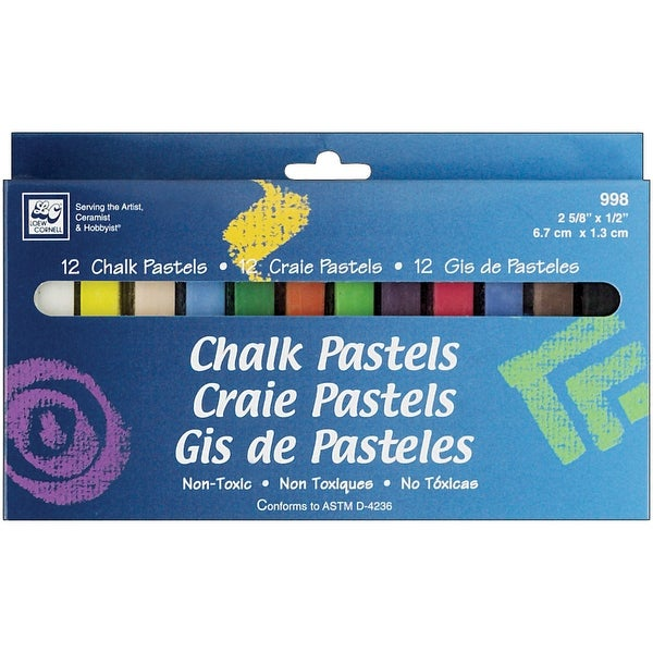 Chalk Pastels 12/Pkg-Assorted Colors