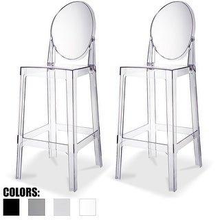 """Link to 2xhome Set of 2 Clear 30"""" Seat Height High Barstool Modern Plastic Chair Side Bar Counter Stool Accent Armless Kitchen Similar Items in Dining Room & Bar Furniture"""