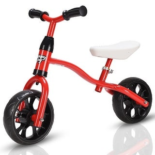 Costway Adjustable Children Kids Balance Bike Pre-bicycle No-Pedal Learn to Ride Red