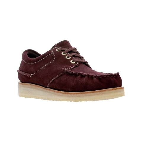 Clarks Mens Wallace Leather Lace Up Casual Oxfords