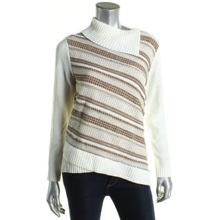 Alfred Dunner Womens Petites Mock Turtleneck Sweater Knit Striped https://ak1.ostkcdn.com/images/products/is/images/direct/7d61cbac555a48d10deb942f740205c126257354/Alfred-Dunner-Womens-Petites-Mock-Turtleneck-Sweater-Knit-Striped.jpg?impolicy=medium