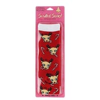 Reindeer Peppermint Scented Socks - Red