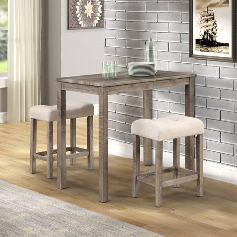 Sora Wood 3-Piece Counter Height Dining Set