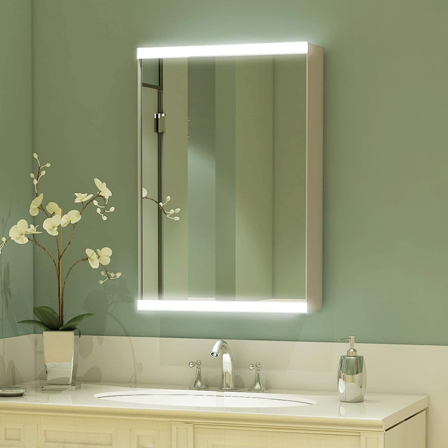 20 X 26 Led Bathroom Medicine Cabinet With Mirror Intelligent Switch Aluminum Frame Casement Door Surface Mounting Only Overstock 31806688