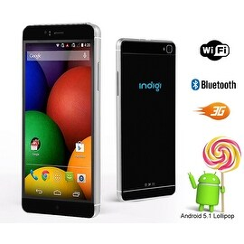 "Indigi® 3G Unlocked Smartphone Android 5.1 Lollipop SmartPhone 6.0"" QHD + WiFi + Bluetooth Sync + Google Play Store"