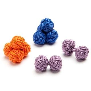 Vibrant Silk Knot Cufflinks