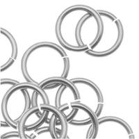 Artistic Wire, Chain Maille Jump Rings, 18 Ga / ID 5.56mm / 50pc, Tarnish Resistant Silver Plated
