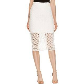 Bardot Womens Calista Straight Skirt Crepe Lace Overlay|https://ak1.ostkcdn.com/images/products/is/images/direct/7d690e1bc8997fbc725c518c7d06a495ceb5f1c5/Bardot-Womens-Calista-Straight-Skirt-Crepe-Lace-Overlay.jpg?impolicy=medium