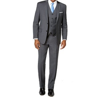 Michael Kors NEW Gray Mens Size 54 Two Button Striped Wool Suit Set