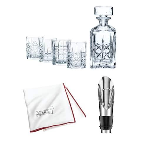 Riedel Nachtmann Highland 5-Piece Whisky Set w/ Wine Pourer and Cloth