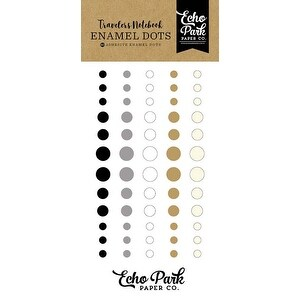 Coffee & Friends - Echo Park Traveler's Notebook Adhesive Enamel Dots 60/Pkg