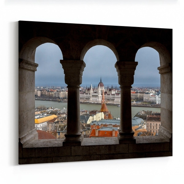 Budapest Hungary City Cityscape Canvas Wall Art Print. Opens flyout.