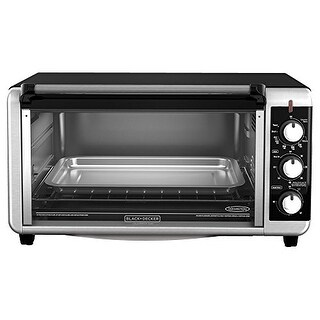 Applica TO3250XSB Black-Decker Stainless Steel 8-Slice Extra Wide Toaster Oven, Black