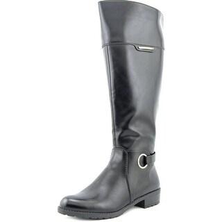Alfani Jadah Wide Calf Round Toe Synthetic Knee High Boot