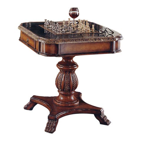 Offex Traditional Square Solid Wood Game Table in Heritage Finish - Multicolor