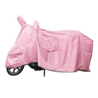L Motorcycle Pink Rain Dust Cover Indoor Outdoor Waterproof Protector