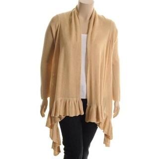 Ralph Lauren Womens Linen Ruffled Cardigan Sweater - L/XL