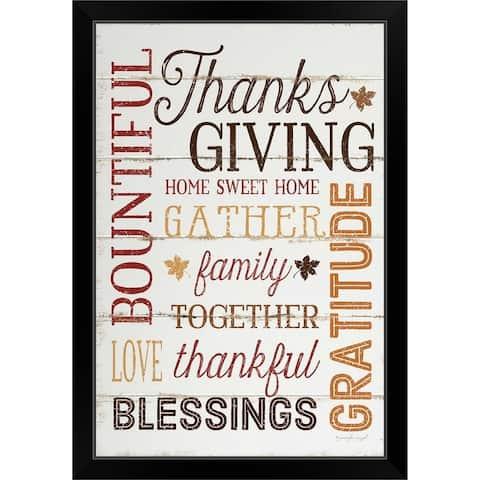 """""""Thanksgiving"""" Black Framed Print"""