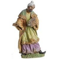 "27.5"" Joseph's Studio King Balthazar Religious Christmas Nativity Statue - green"