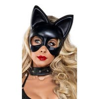 Black Cat Mask, Large Cat Mask - One Size Fits most
