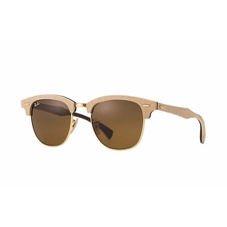 Ray-Ban RB3016 Clubmaster Wood Sunglasses - Brown